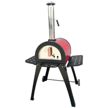 Outdoor Wood Fired Cooking Pizza Oven Making Quick Pizza